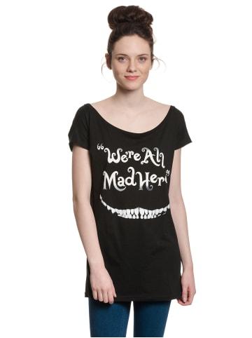 Disney Alice in Wonderland  Loose-Shirt Mad Here Smile Girl Loose in schwarz