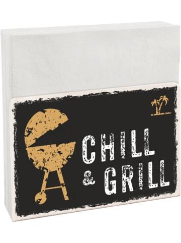 """Contento Serviettenhalter Easy """"Chill & Grill"""" inkl. 50 Servietten"""