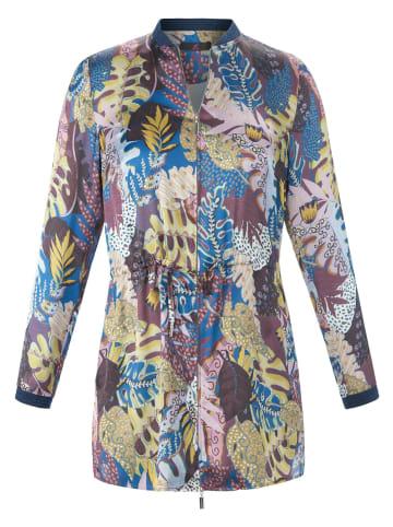 EMILIA LAY Langarmbluse Blusenjacke in lila/multicolor