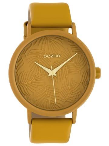 Oozoo Damen-Armbanduhr Lederband Senfgelb 42 mm