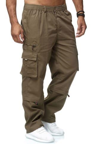 LMC Cargo Hose 2-in-1 Zip Off Trennbar 3/4 Shorts Schlupfhose in Braun