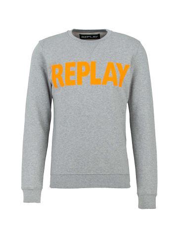 Replay Sweatshirt Cotton Fleece in grau