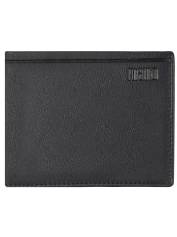 Mano Dignus Geldbörse Leder 12 cm in schwarz