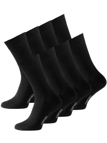VCA® Baumwollsocken 8 Paar in Schwarz