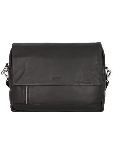 Alassio Oro Messenger Leder 38 cm Laptopfach in schwarz