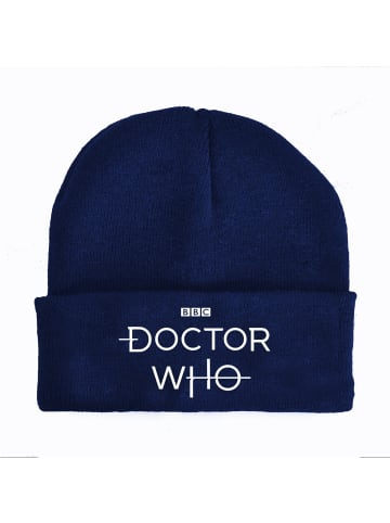 BBC Strickmütze Doctor Who Logo Beanie in blau