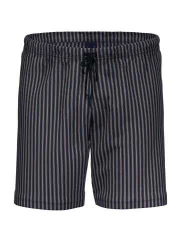 Ammann Schlafanzug-Hose kurz Organic Cotton - Mix & Match in Blau-Gestreift