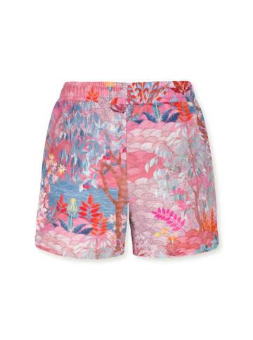 """PiP Studio Kurze Hose """"Bob Short Trousers Pip Garden Big Pink"""" in Pink"""