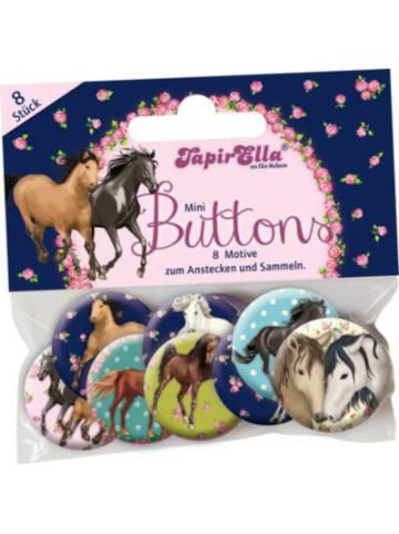 TapirElla Mini-Buttons Pferde, 8 Stück