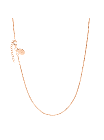 S. Oliver Jewel Halskette Silber 925, rosévergoldet in Roségold