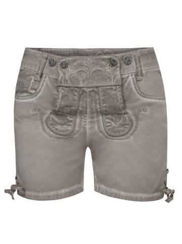 MarJo Jeans-Lederhose in Grau