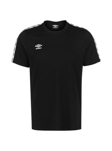 Umbro T-Shirt FW Taped in schwarz / weiß