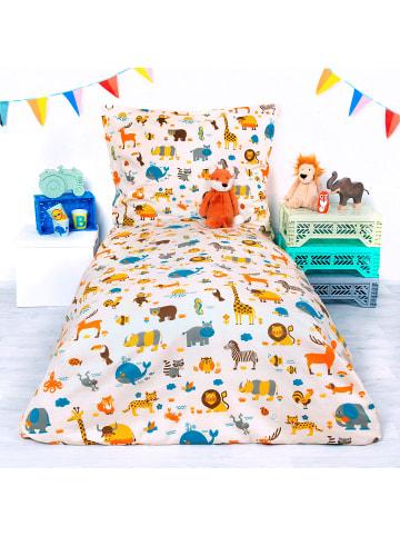 ByGraziela  Kinderbettwäsche Welt der Tiere, Baumwolle, 100 x 135 cm