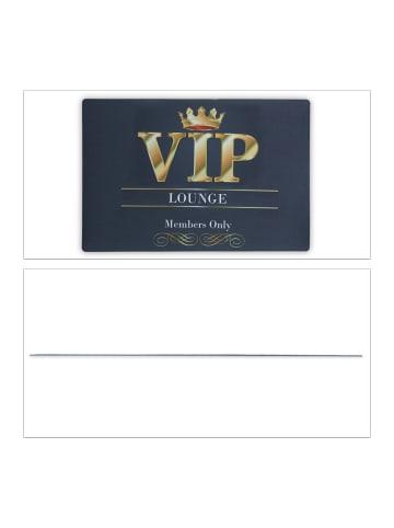 Relaxdays Fußmatte VIP Lounge in Schwarz - (L)60 x (B)40 cm