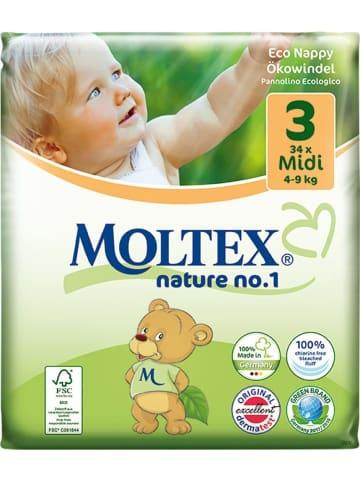 "MOLTEX Ökowindeln ""Nature No1"" MIDI Gr. 3 (4-9 kg) 33 Stück"