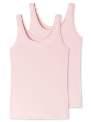 UNCOVER BY SCHIESSER Unterhemd 2er Pack in Rosé