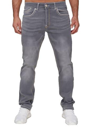 AMICA JEANS Denim Jeans Dicke Naht Hose Big Seam in Grau