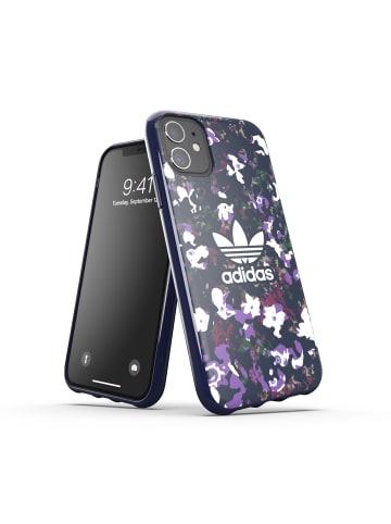 "Adidas Cover ""Snap Case Floral AOP collegiate navy/active purple"" für iPhone 11 in blau"