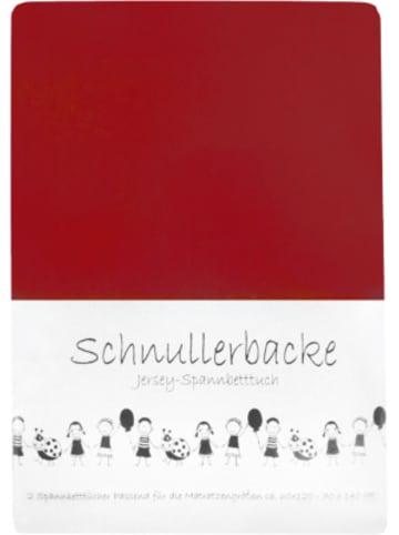 Schnullerbacke Spannbettlaken rot 2er Set, Jersey, 70 x 140 cm