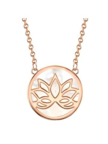 Rafaela Donata Halskette Lotusblume Sterling Silber Perlmutt in Roségold in roségold