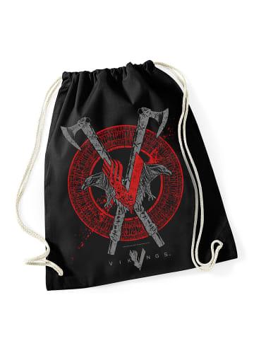 Vikings Turnbeutel Axe&Raven Bag in schwarz