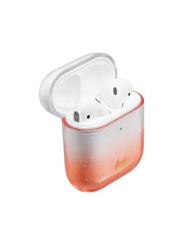"""Laut Tasche """"Ombre Sparkle AirPods Peach""""  in orange"""
