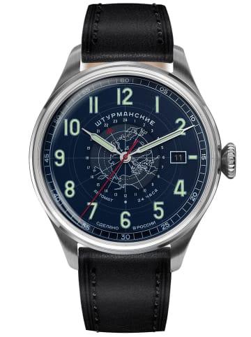 Sturmanskie Herren-Armbanduhr Heritage Arctic Automatik 24h Blau