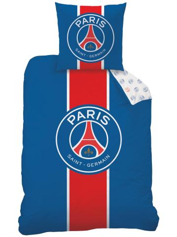 "Paris Saint-Germain Fußball Bettwäsche-Set ""Paris Saint-Germain (PSG)"" in Blau / Rot"