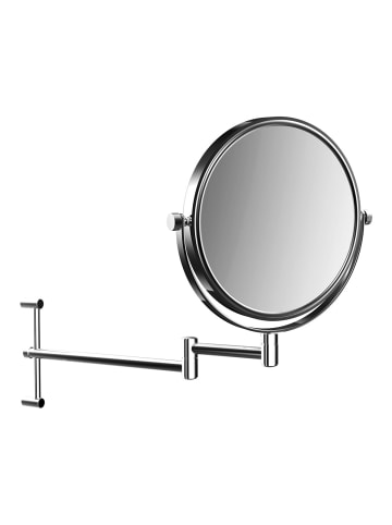Frasco Wand-Kosmetikspiegel höhenverstellbar mit 3-fach-Vergrößerung, Ø 200 mm