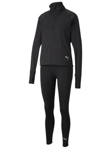 Puma Trainingsanzug ACTIVE Yogini Woven in Schwarz