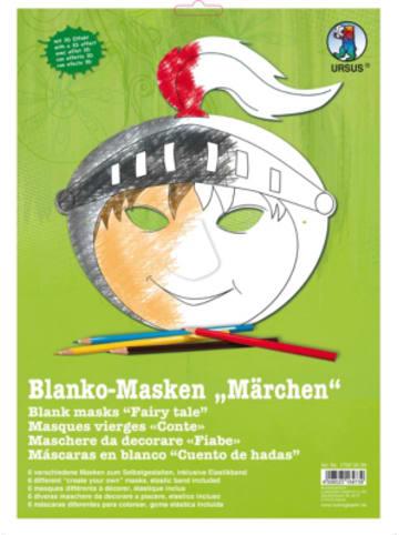 URSUS Kreativset Blanko-Masken Märchen, 6 Stück