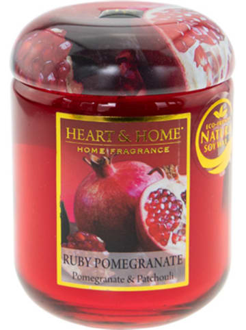 "HEART & HOME Kleine Duftkerze ""Ruby Pomegranate"", 115 g"