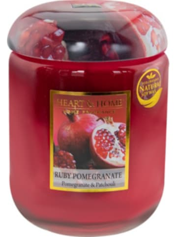 "HEART & HOME Große Duftkerze ""Ruby Pomegranate"", 340 g"