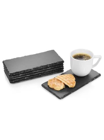 Sänger 6-tlg. Schieferplatten Set Biscuit in Grau