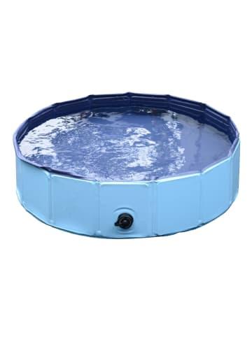 Pawhut Hundepool in Blau