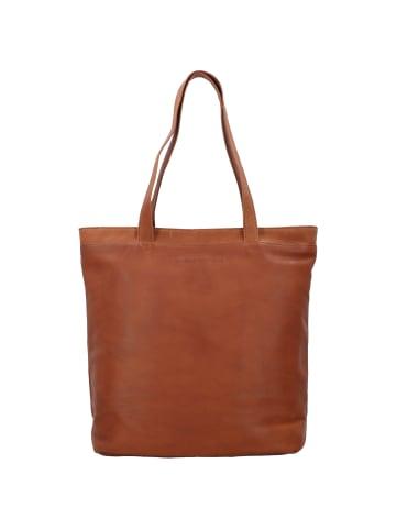 The Chesterfield Brand Wax Pull Up Bonn Shopper Tasche Leder 35 cm Laptopfach in cognac