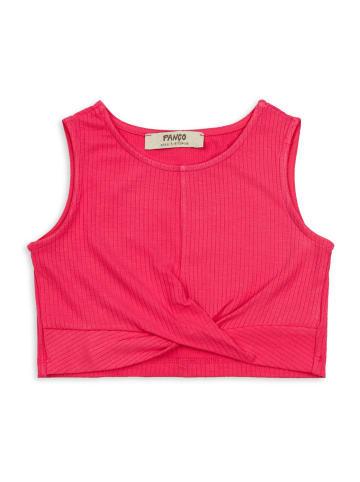 Panco Unterhemd - mit Knotendetail - für Mädchen in Fuchsia