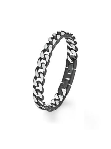 S. Oliver Jewel Armband Edelstahl, IP schwarz in Silber
