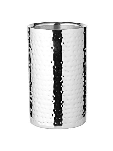 Edzard Wein, und Sektkühler Nebraska in Silber, Hochglanzpoliert Höhe 20 cm