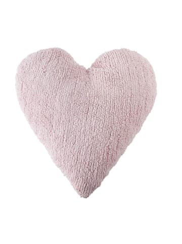 "Lorena Canals Kissen   ""Heart"" in Hellrosa-   50x54x34 cm"
