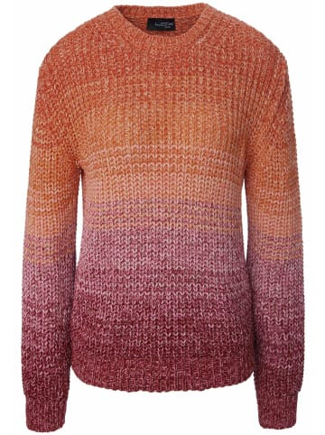 LOOXENT Pullover Rundhals-Pullover in pink/orange