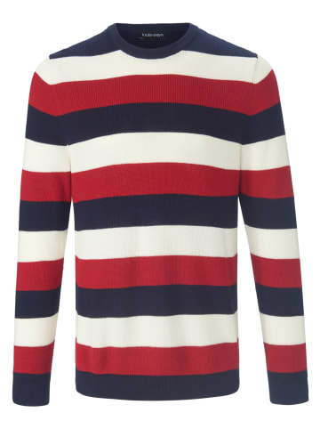 LOUIS SAYN Pullover Rundhals-Pullover in marine/rot/multicolor