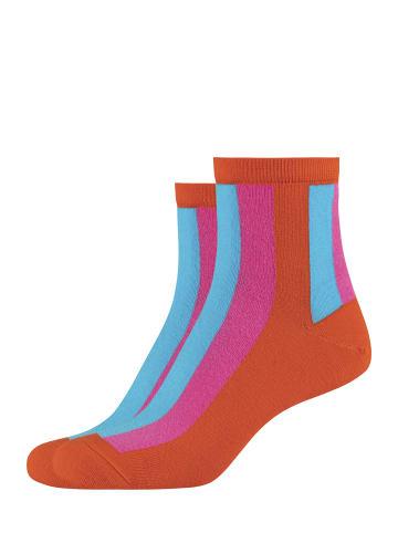Fun Socks 2er-Pack Damen Anklet Socks in Vibrant Orange - 800