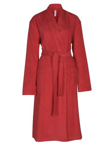 Taubert Frottee Bademantel Kimono - 120 cm lang Senses in Rot