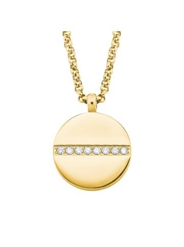 S. Oliver Jewel Kette mit Anhänger Edelstahl, IP gold in Gold