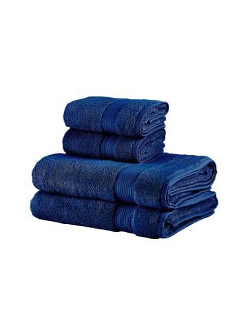 BELLA MAISON Handtuch Basic in blau-dunkelblau