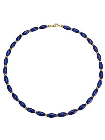 Diemer Farbstein Collier mit Lapislazuli und Pyrit in Blau
