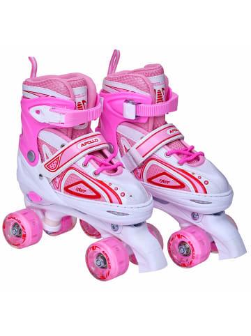 "Apollo Rollschuh "" Super Quads X-Pro "" in weiß/pink"