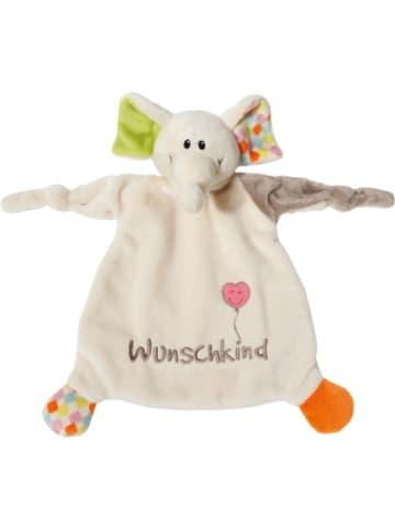 """Nici Schmusetuch Elefant """"Wunschkind"""" 25x25cm für Babys (40038)"""