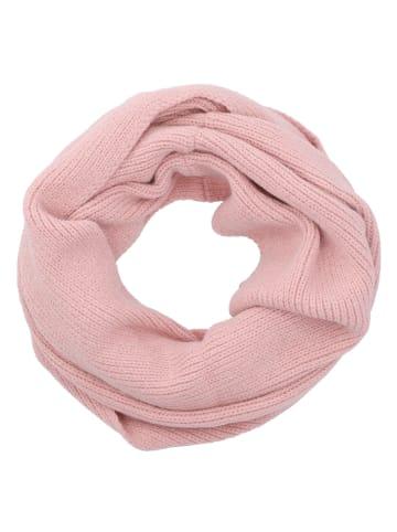 Six Loop-Schal aus recyceltem Material in rosafarben
